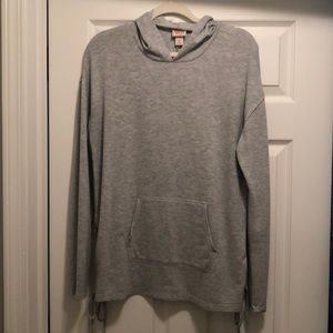 Mossimo Supply Co. Gray Tie Hoodie